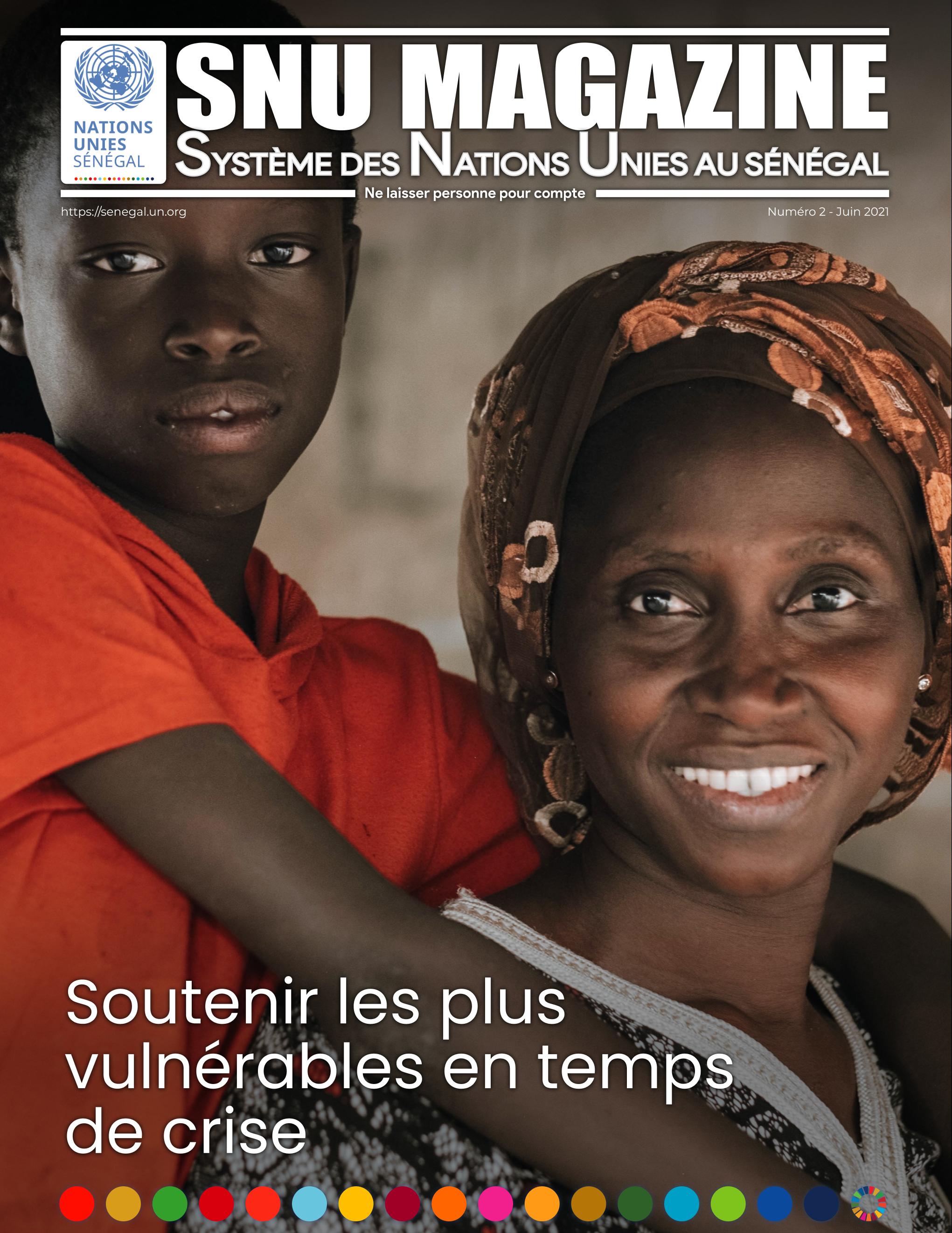 Première page du MAGAZINE du SNU du mois de Juin 2021