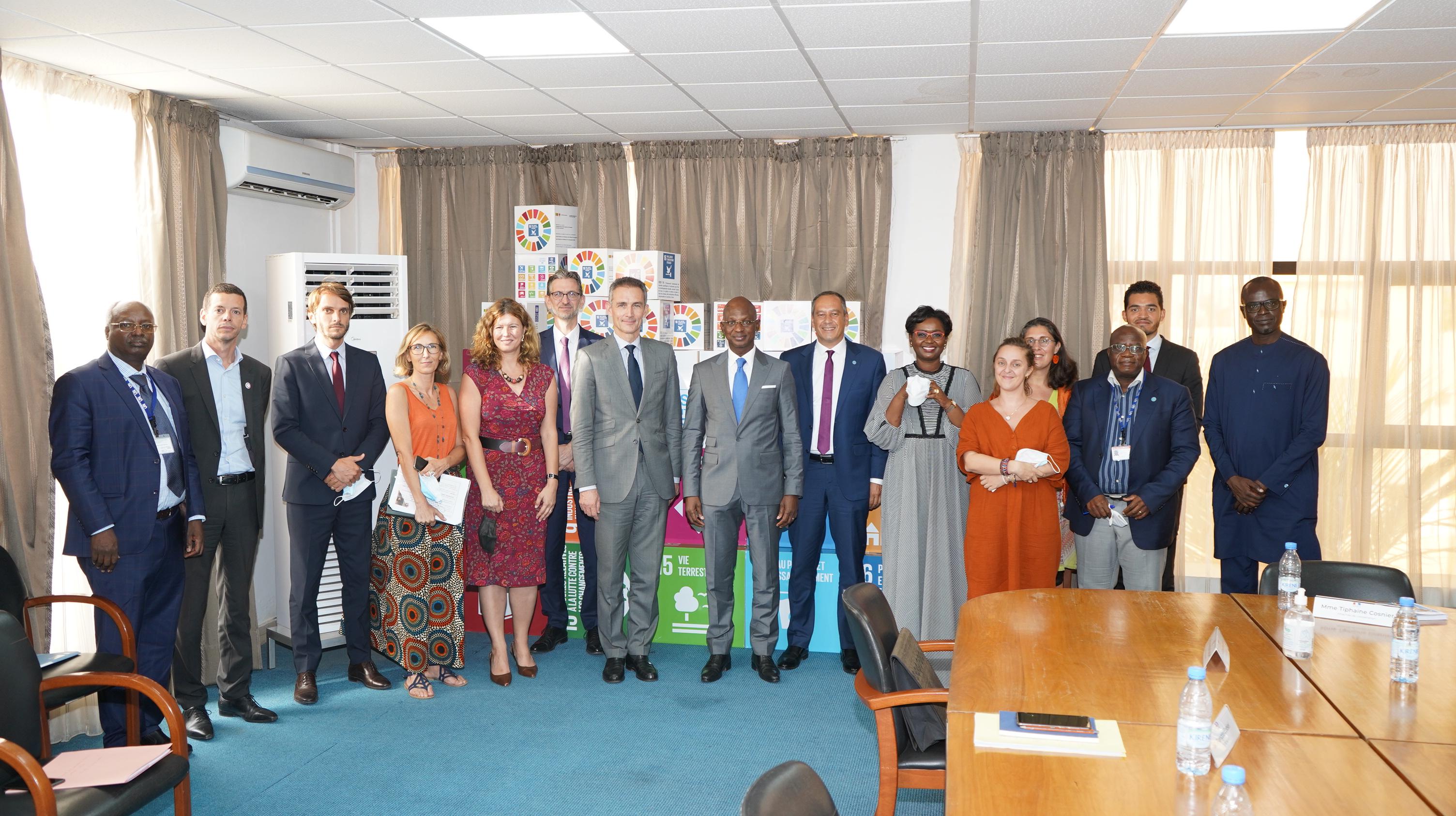 Visite délégation de l'Ambassade de France.